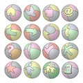 Balloon Web Icons Royalty Free Stock Photo