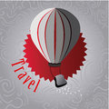 Ballooning design over vintage background vector illustration Royalty Free Stock Photos