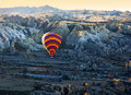 Ballooning in the early morning cappadocia turkey Stock Images