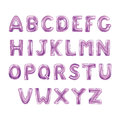 Balloons ABC alphabet Royalty Free Stock Photo