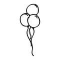 Balloons air party drawing