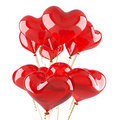 Balloons as red hearts Stock Photos