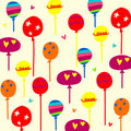 Balloons background Stock Photos