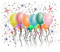 Balloons background made with colorful and party decorations Royalty Free Stock Image