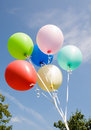 Balloons on background sky Royalty Free Stock Photos