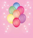 Balloons beautiful festive multi colored Stock Photos