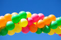 Balloons and blue sky Royalty Free Stock Photo