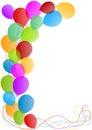 Balloons border card