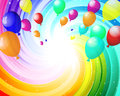 Balloons color in the air eps vector illustration with transparency Royalty Free Stock Image