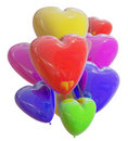 Balloons color heart Royalty Free Stock Photos