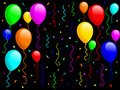 Balloons and Confetti [1] Royalty Free Stock Images