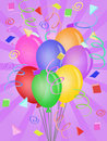 Balloons with Confetti for Birthday Party Royalty Free Stock Photography