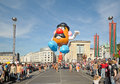 Balloons day in brussels defile of giant cartoon characters parade arrive to place de l albertine on september belgium Royalty Free Stock Photo