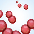 Balloons festive red in the sky Stock Photo