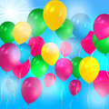 Balloons flying in the air Royalty Free Stock Image