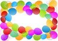 Balloons frame border card
