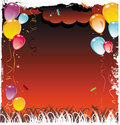 Balloons frame composition Royalty Free Stock Image