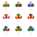 Balloons groups collection of in various colors Stock Image