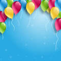 Balloons happy birthday on white Royalty Free Stock Photos