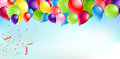 Balloons Header Background Royalty Free Stock Photo