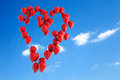 Balloons heart shape Royalty Free Stock Photos