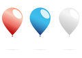 Balloons isolated on white vector illustration Stock Images