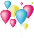 Balloons lots of colorful on a white background vector illustration Royalty Free Stock Images