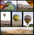 Balloons over Valley Royalty Free Stock Images
