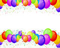 Balloons party background Stock Photo