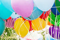 Balloons party, leisure activity, retro objects