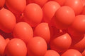 Balloons red bunch full frame many Royalty Free Stock Image