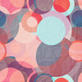 Balloons seamless pattern with colorful paper circles Royalty Free Stock Photo