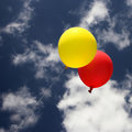 Balloons on the sky Royalty Free Stock Photo