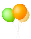Balloons three bunch on white background Royalty Free Stock Images