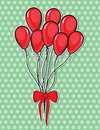 Balloons vector illustration of the Royalty Free Stock Photography