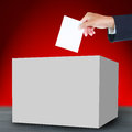 Ballot and box hand with Stock Image