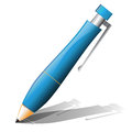 Ballpoint pen icon on a white background Stock Photo