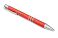Ballpoint pen red on white Stock Images