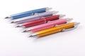 Ballpoint pens on table Royalty Free Stock Photo