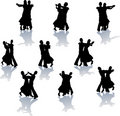 Ballroom Dance Silhouettes Royalty Free Stock Photos