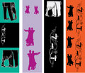 Ballroom Dancing Web Banner Templates Royalty Free Stock Photography