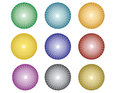 Balls with abstract circles pattern Royalty Free Stock Images