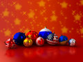 Balls flags for the christmas tree on background Royalty Free Stock Photo