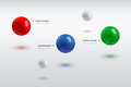 Balls infographic template with color of different sizes eps illustration Royalty Free Stock Photos