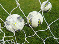 Balls in the net Royalty Free Stock Photography