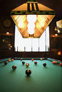 Balls on pool table. Royalty Free Stock Photography