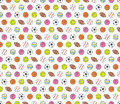 Balls, seamless pattern Royalty Free Stock Photo