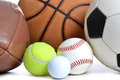 Balls sports on white background Royalty Free Stock Photos