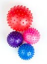 Balls toy multi colored with pins Royalty Free Stock Images