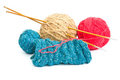 Balls of wool Stock Photo